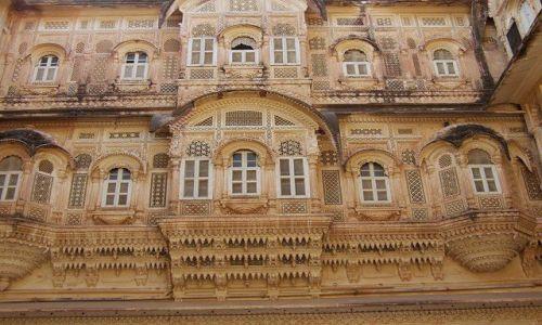INDIE / Rajasthan / Jodhpur / fort Meherangarh - wewnątrz