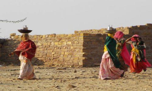 INDIE / Rajasthan / Jaisalmer - pustynia Thar / w drodze na safarii..