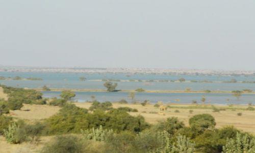 INDIE / Rajasthan / Jaisalmer - pustynia Thar / jezioro na pustynii?