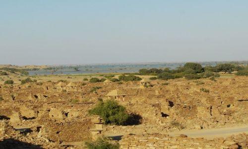 INDIE / Rajasthan / Jaisalmer - pustynia Thar / opuszczone miasto