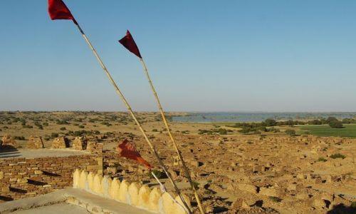 INDIE / Rajasthan / Jaisalmer - pustynia Thar / widok z fortu