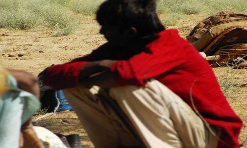 INDIE / Rajasthan / Jaisalmer - pustynia Thar / zamyślony...