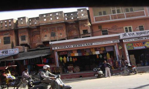 INDIE / Rajasthan / Jaipur / ruch uliczny