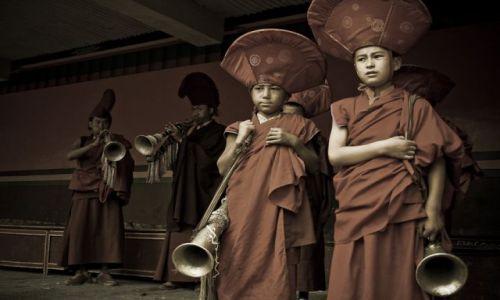 Zdjęcie INDIE / Ladakh / Lamayuru / Młodzi mnisi II