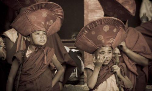 Zdjęcie INDIE / Ladakh / Lamayuru / Młodzi mnisi III