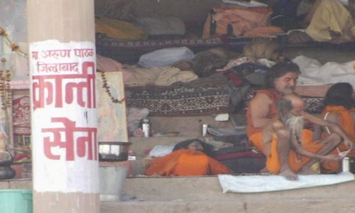INDIE / Uttar Pradesh / Varanasi / asceci
