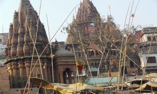 INDIE / Uttar Pradesh / Varanasi / z łodzi
