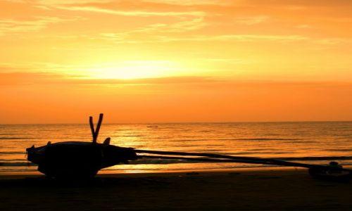 Zdjęcie INDIE / Goa / Benaulim Beach / Goa zachód słońca