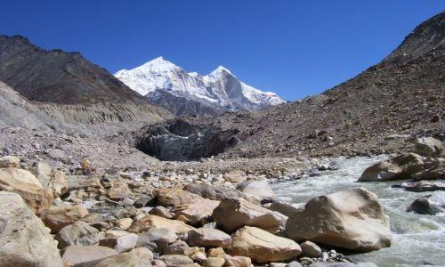 Zdjęcie INDIE / Uttarakhand / Lodowiec Gangotri / Gaumukh - źródła Gangesu