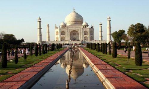 Zdjecie INDIE / brak / Agra - Taj Mahal / Jeszcze raz chwila z pięknem i majestatem ...