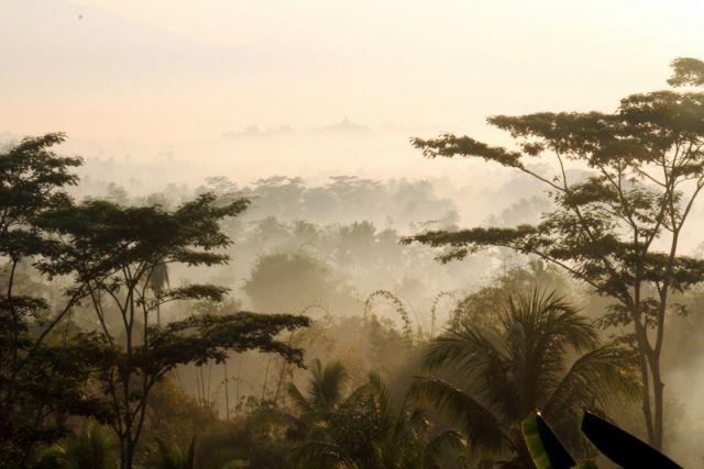 Zdjęcia: Jogjakarta, Java, Poranne mgły, INDONEZJA
