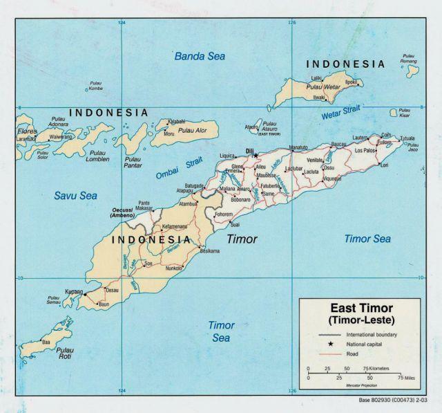 Zdjęcia: Wyspa Timor, Azja - Pacific, Mapa Timoru, INDONEZJA