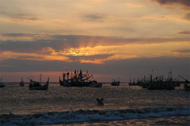 Zdjęcia: Jimbaran, Bali, Zachód słońca, INDONEZJA