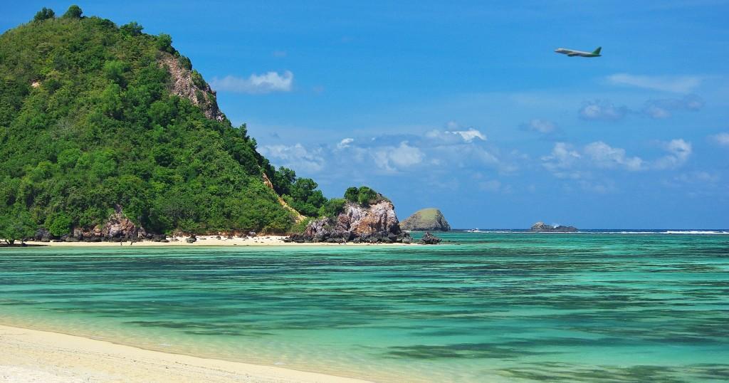 Zdjęcia: Południowa część wyspy, Lombok, Plaża w Kucie, INDONEZJA