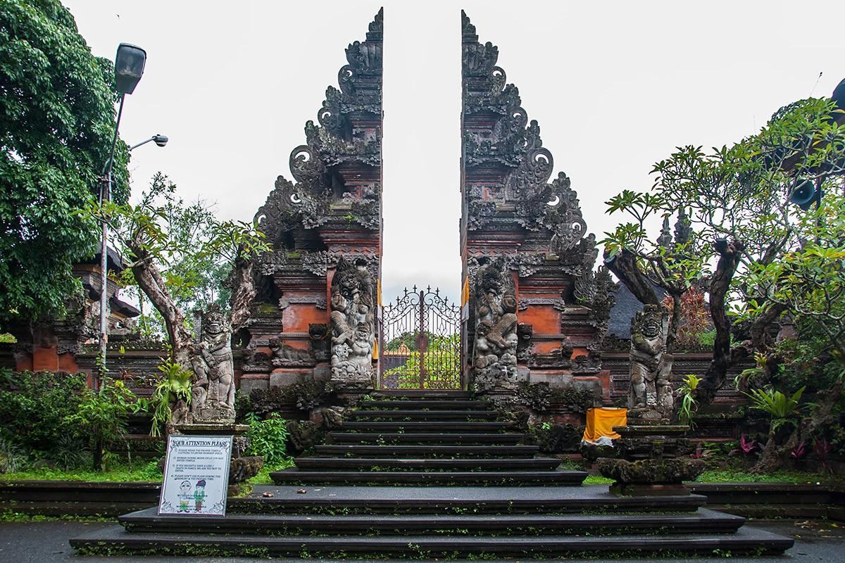 Zdjęcia:  Ubud, Bali, Balijska brama, INDONEZJA