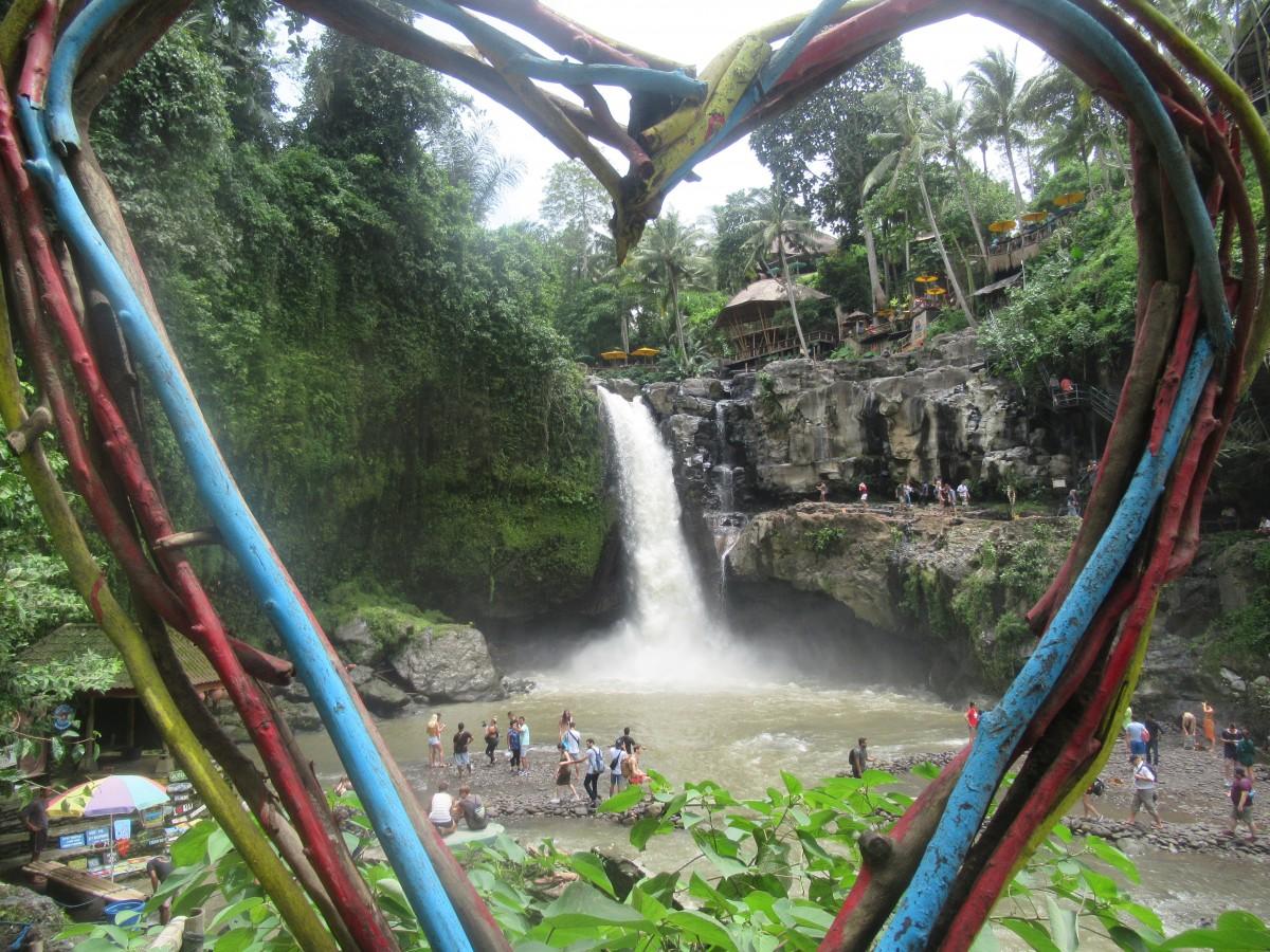 Zdjęcia: Taganungan Waterfall, Ubud, Walentynkowy Wodospad, INDONEZJA