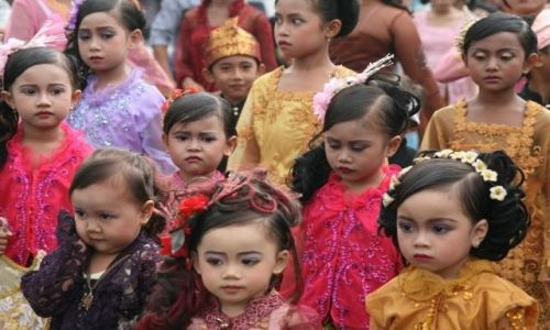 Zdjęcie INDONEZJA / Lombok / Lombok / Orszak slubny