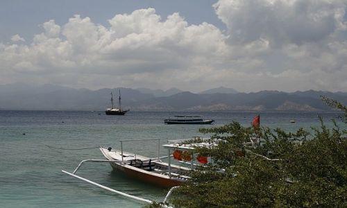 Zdjecie INDONEZJA / Lombok / Gili / Widok na Lombok