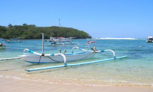 Zdjecie INDONEZJA / nad morzem, bali / Bali / Bali, lodki