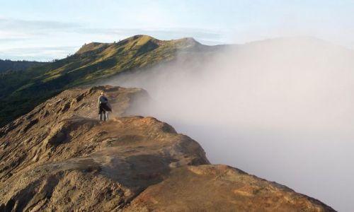 Zdjecie INDONEZJA / Jawa / Bromo / na kraterze wul