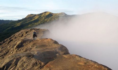 Zdjecie INDONEZJA / Jawa / Bromo / na kraterze wulkanu Bromo