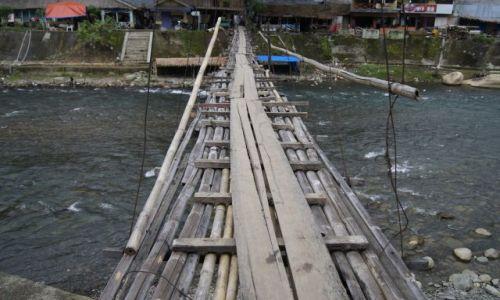 Zdjecie INDONEZJA / Sumatra / Bukit Lawang / Most na Bohorok