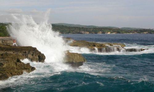 Zdjęcie INDONEZJA / Nusa Lembognan / Devil's Tear / Siła oceanu