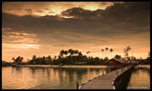 Zdjecie INDONEZJA / Borneo, Kalimantan / Derawan / Zachód słońca -