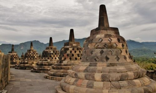 Zdjecie INDONEZJA / Jawa  / Borobudur / Świątynia