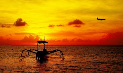 Zdjecie INDONEZJA / Bali / Sanur / Wschód słońca(Sanur).