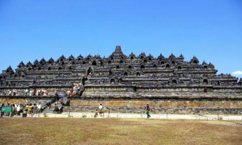 Zdjęcie INDONEZJA / Jawa / Borobudur / Borobudur - Świątynia Buddyjska na Jawie