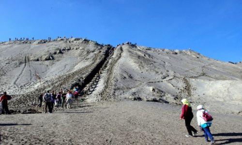 Zdjęcie INDONEZJA / Jawa / Bromo / Wulkan Bromo  ostatnie podejście