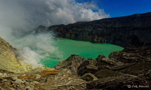 Zdjęcie INDONEZJA / Jawa / Kawah Ijen / Widok wulkanu