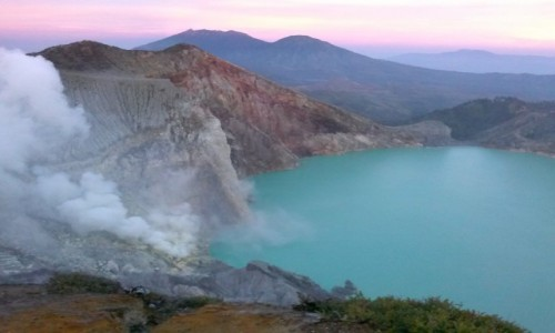 Zdjecie INDONEZJA / - / Kawah Ijen / Wulkaniczne jezioro