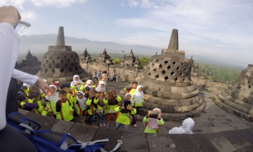 Zdjecie INDONEZJA / Jawa / Borobudur Tempel Stupas /