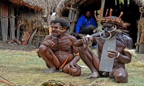 Zdjęcie INDONEZJA / Papua Zachodnia; Dolina Baliem / wioska Dani / Dani -