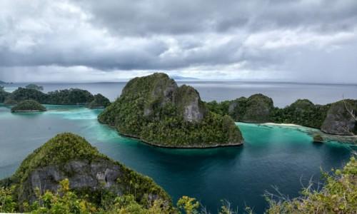 Zdjecie INDONEZJA / Papua Zachodnia / Archipelag pomiędzy morzem Seram i Oceanem Spokojnym  / Widok z wyspy Wayag