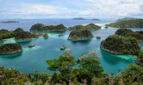 INDONEZJA / Papua Zachodnia / Archipelag pomiędzy morzem Seram i Oceanem Spokojnym  / Widok z wyspy Pyamemo