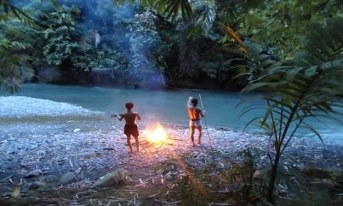 Zdjecie INDONEZJA / Sumatra / Bukit Lawang / Kolacja w dżungli