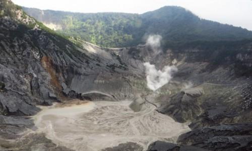 INDONEZJA / Jawa / Tangkuban Perahu / krater Królowej