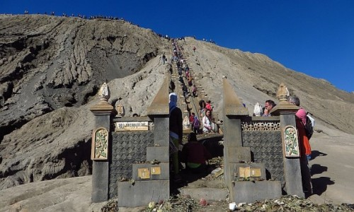 Zdjecie INDONEZJA / Jawa / kaldera Tengger / miejsce składania ofiar Bogu wulkanu Bromo