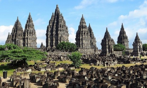 Zdjecie INDONEZJA / Jawa / Yogyakarta / świątynia Prambanan