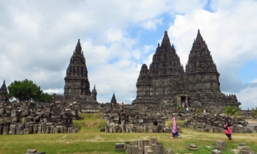 Zdjęcie INDONEZJA / Jawa / Yogyakarta / świątynia Prambanan