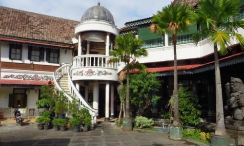 Zdjęcie INDONEZJA / Jawa / Yogyakarta / restauracja sułtana Yogyakarty