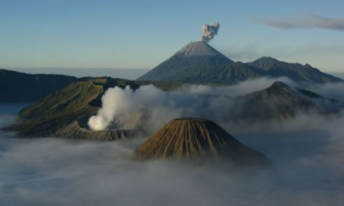 Zdjęcie INDONEZJA / Jawa / Bromo  / Panorama krateru Bromo