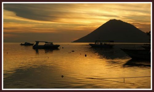 Zdjecie INDONEZJA / Sulawesi / Wyspa Bunaken / Zachód nad Bunaken