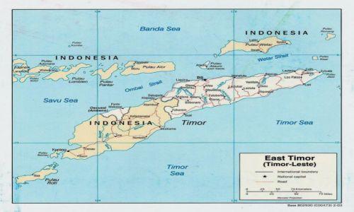 INDONEZJA / Azja - Pacific / Wyspa Timor / Mapa Timoru