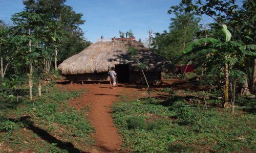 INDONEZJA / Timor Zachodni / okolice Soe / ... typowe domostwo w środkowej części wyspy....