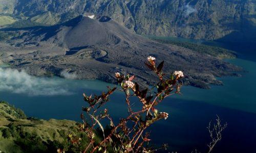 Zdjecie INDONEZJA / Lombok / Rinjani / ... wulkan w wu