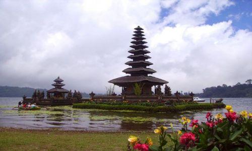 Zdjecie INDONEZJA / Bali / jezioro Danau Batur / światynia Pura Ulun